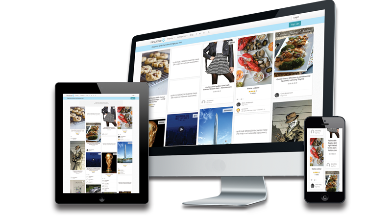 responsive pinterest clone for wordpress1 Pinterest Clone Wordpress