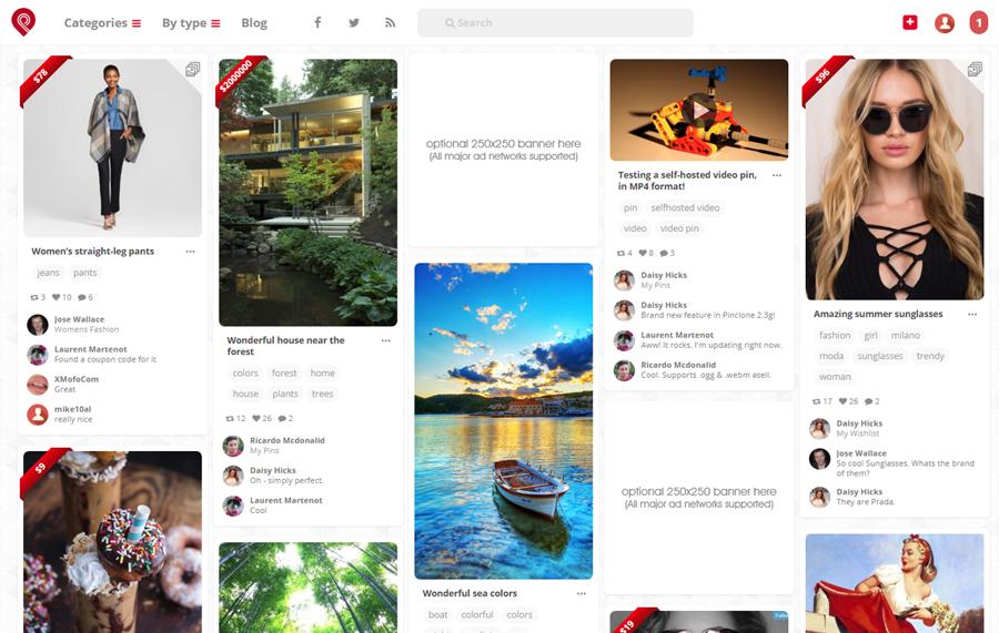Pinterest Clone Mobile Responsiveness Desktop